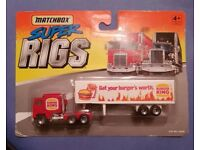 1996 Matchbox Super Rigs Burger KING Tractor/trailer #34330 New