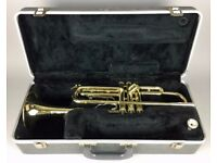 -BUESCHER ARISTOCRAT- BRASS TRUMPET with MOUTHPIECE & ORIGINAL CARRY CASE BOX