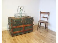 Vintage Steamer Trunk / Coffee Table / Storage Chest