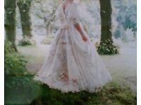 Vintage Designer Wedding Dress - approx size 10