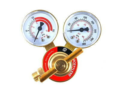Sa - Acetylene Regulator Welding Gas Gauges - Cga-200 - Rear Connector - Ldb