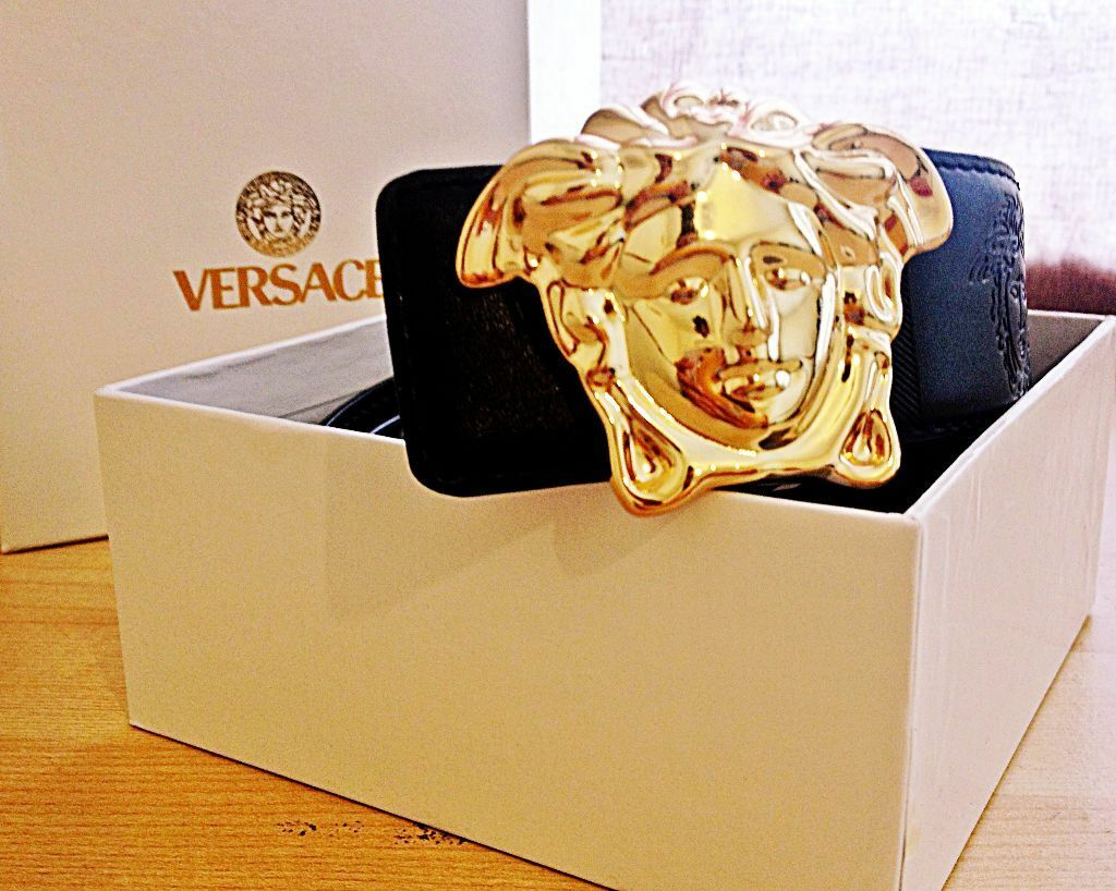 versace belt box. golden buckle mens versace belt with box available not mk lv gucci prada hermes armani nike n