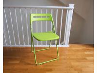 Like new - Folding chair - Green - Nisse Ikea chair