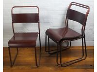 Over 10 available stacking bakelite tubular chair school vintage antique industrial kitchen