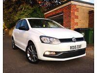 White VOLKSWAGEN VW Polo SE Design 2015 Bluemotion FSH 1 owner from new