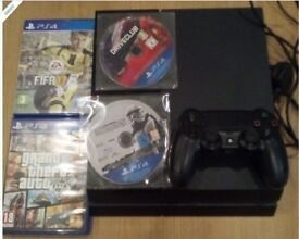 PS4 with 12 Games inc GTA 5, Fifa, Star Wars, Batman, Deus Ex, Driveclub, Just Cause, Knack, Rime