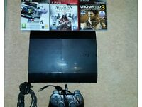 Playstation 3 500GB (CECH-4003C) ,Controller,3 games,Power Cable.