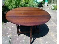 Folding gate leg oak style vintage retro table