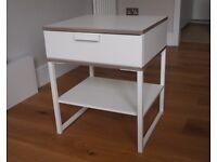 White IKEA bedside table
