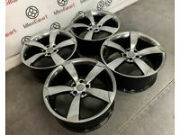 "20"" AUDI RS ROTA STYLE ALLOY WHEELS - ALSO AVAILABLE WITH TYRES - 5 x 112 - SHADOW CHROME"