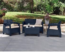 Outdoor 4 Seater Brand new Rattan Sofa :Free Delivery: