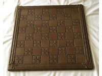 VINTAGE SOLID WOOD CHESS BOARD