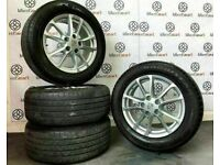 """GENUINE PORSCHE 18"""" ALLOY WHEELS AND TYRES - GLOSS SILVER - 5 X 130"""