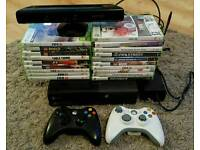 XBox 360, 2 controllers & Kinect