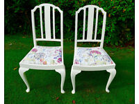 Voyage covered chairs in Hedgerow fabric