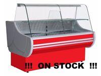 NEW £1358 +VAT 200cm (6.6 feet) Serve Over Counter Display Fridge EGIDA on STOCK