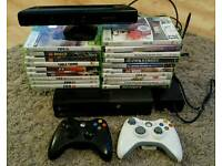 XBox 360 E with 2 controllers, Kinect & games