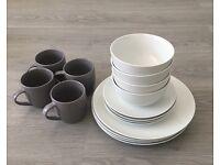 Morrison's ceramic kitchen set white&grey