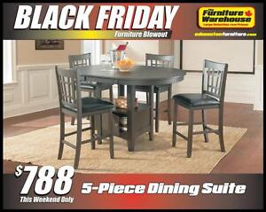 BLACK FRIDAY Pub Table Set Deal-Only $788