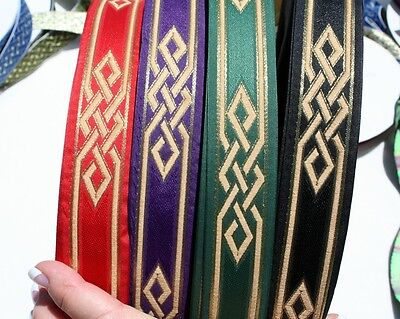 (Celtic Woven Knot Fabric Trim 1 3/8 inch Wide by the yard)