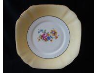 Pretty Bone china Cake/Sandwich Plate Summerbank Pottery Wedding, Cup Cake, Tea Room