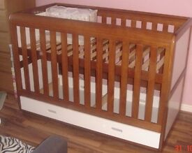 Baby Cot Bed - East Coast Rio with Matress