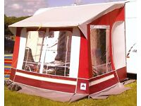 Awning for caravan. Dorema canvas. 2 meters square.
