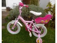 "Girl's 12"" Cupcake Bike - great condition"