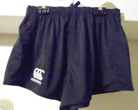 Canterbury Rugby League Short. Navy & Black. Sizes: Small & 2XL