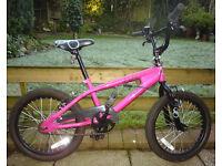 """Girls BMX bike 8-10yr old, 18"""" wheels, excellent condition"""