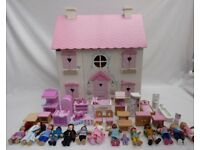 Dolls House with Furniture and Dolls Large size 3 floors