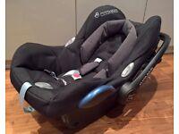 Maxi-Cosi CabrioFix Group 0+ Car Seat, Black Raven - Like New