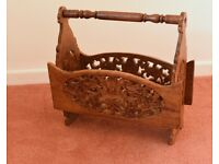 Hand carved rack for papers, magazines or whatever!. Excellent. Only £5!