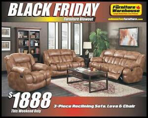 BLACK FRIDAY Recliner Set Deal-Only $1888