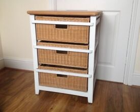 Pine and wicker drawers draws good condition
