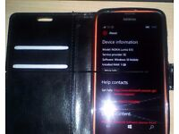 Unlocked 4G Nokia Lumia 635 & Leather holder with Space for bank cards
