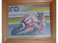 Wayne Rainey No 1 riding the Yamaha 500cc framed colour original
