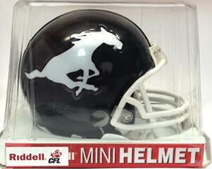 Calgary Stampeders Black Riddell VSR4 Style Mini Football Helmet (New) Calgary Alberta Preview
