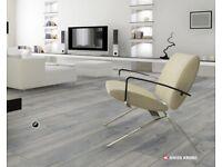 Krono Swiss Laminate flooring 12mm - Gunpowder Grey £15.99 Sq mtr