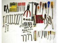 Huge Collection of Tools Spanners Files Screwdrivers & Various Sockets