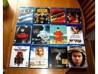 Joblot/Bundle of 12 Blu- rays ( Dunkirk, Schindler's List, The Martian)