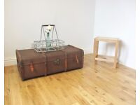 Bentwood Steamer Trunk / Coffee Table / Storage Chest
