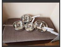 Stainless Steel 5 piece Sauce Pan set brand new