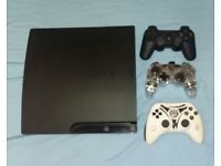 Ps3 Console 160gb with 3 controllers and 18 games