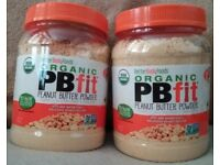 850g Tub of PB Fit Organic Peanut Butter Powder - Better Body Foods Protein Powder (£5 Each)