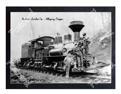 Historic Buehner Lumber Co. - Allegany, Oregon Train Postcard