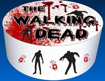 The Walking Dead  7.5 inch Round w/Minis Edible Image Cake Toppers - Walking Dead Cakes
