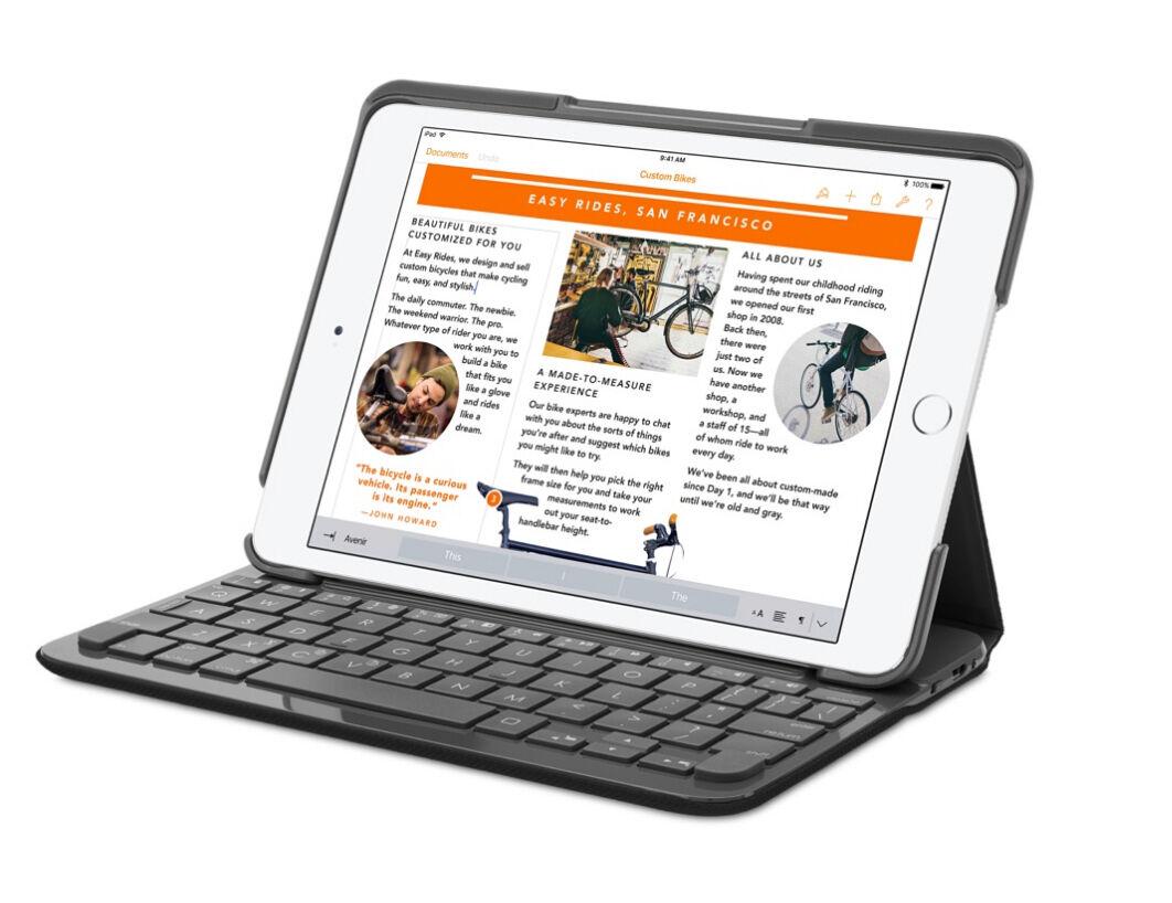 ea40b54e7ab Logitech Canvas Keyboard Case for iPad mini 2, and 3 Black ...