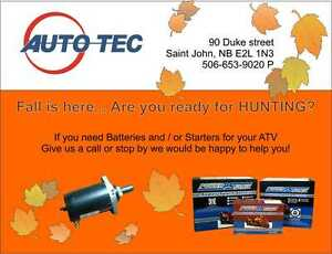 See us at Autotec for Battery & Starter Needs for Hunting