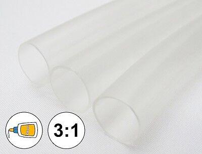1 Foot 316 Clear Heat Shrink Tube 31 Dual Wall Adhesive Glue Line Marine